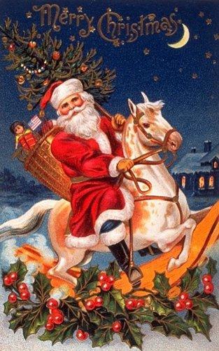 Старая открытка с Рождеством. Старинные открытки с Новым годом и Рождеством