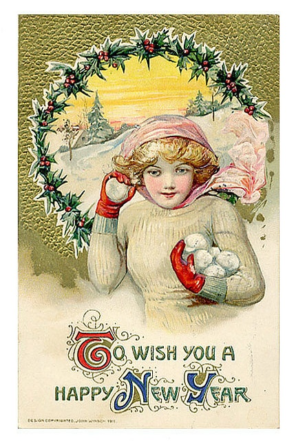 Винтажные новогодние открытки. Старинные открытки с Новым годом и Рождеством
