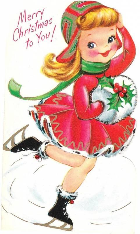 Винтажные рождественские открытки. Старинные открытки с Новым годом и Рождеством