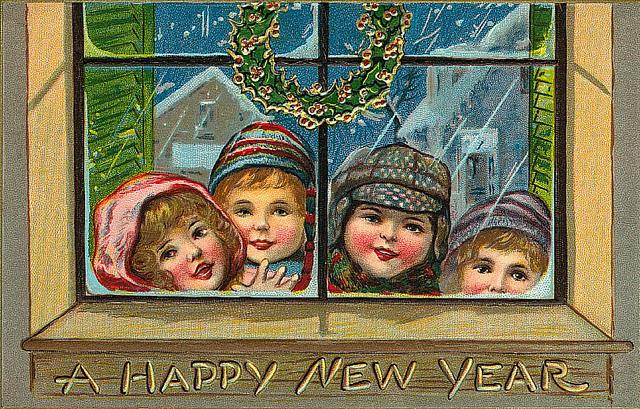 Старинные Новогодние винтажные открытки