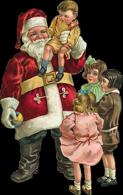 Новогодняя винтажная картинка. Старинные открытки с Новым годом и Рождеством