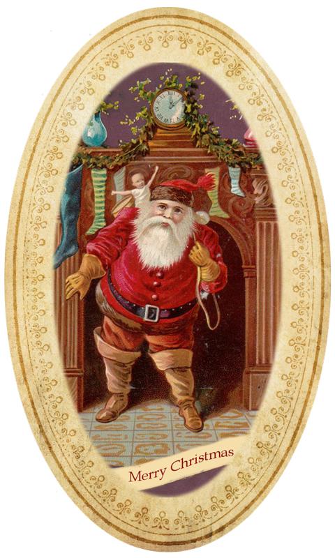 Рождественский дед. Старинные открытки с Новым годом и Рождеством