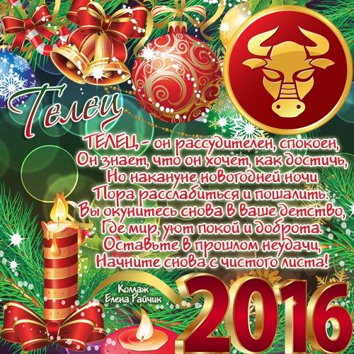Гороскоп для Тельца на 2016 год. Пожелания по знакам зодиака на новый год 2016