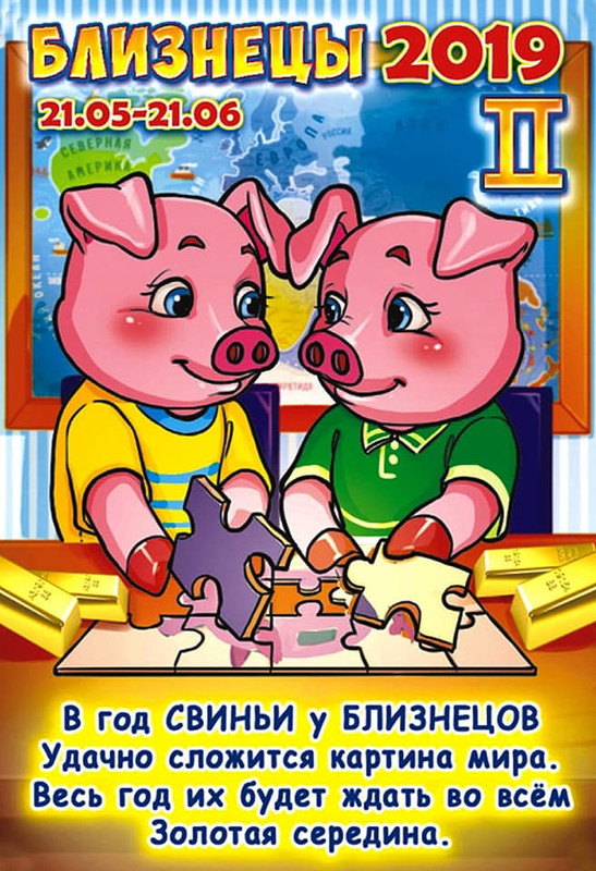 Близнецы - Гороскоп на 2019 год Свиньи (Кабана)