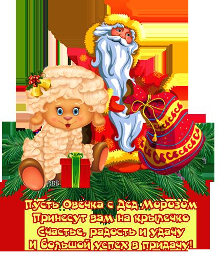 Овечка и Дед Мороз 2015