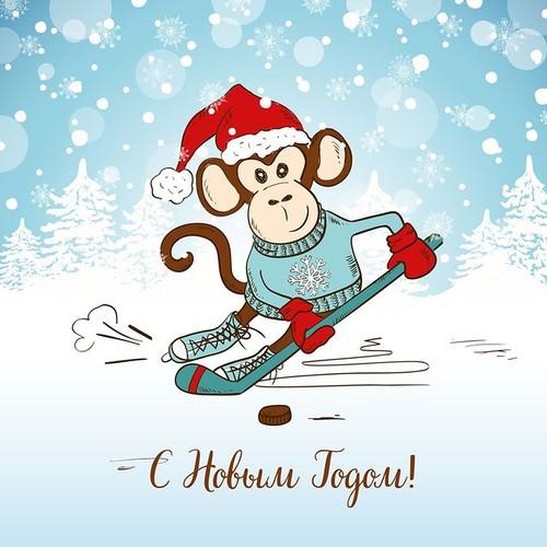 2016 Новый год: новогодние картинки. С Новым Годом обезьяны 2016