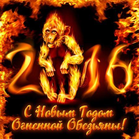 С Новым годом Огненной обезьяны 2016!. С Новым Годом обезьяны