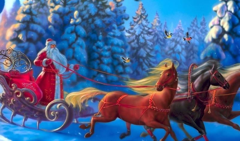 Bолшебный дед мороз. Дед Мороз и Снегурочка картинки