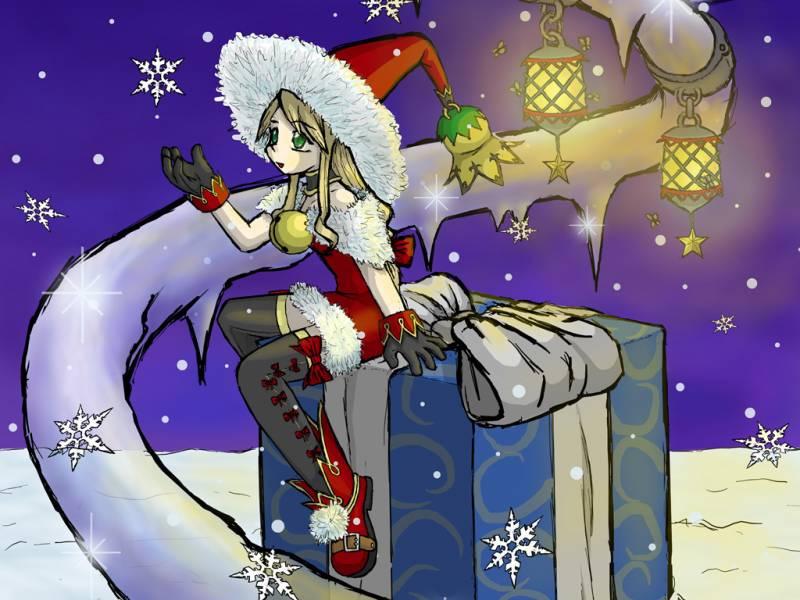 Снегурочка аниме. Дед Мороз и Снегурочка картинки