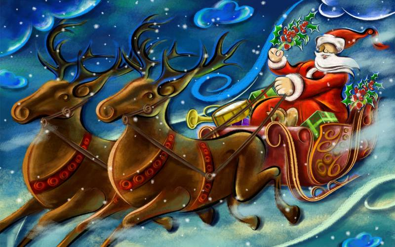 Санта Клаус / Новый Год. Дед Мороз и Снегурочка картинки
