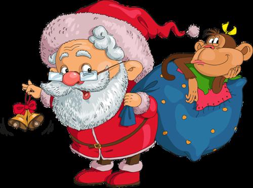 Дед Мороз с Обезьяной. Дед Мороз и Снегурочка картинки