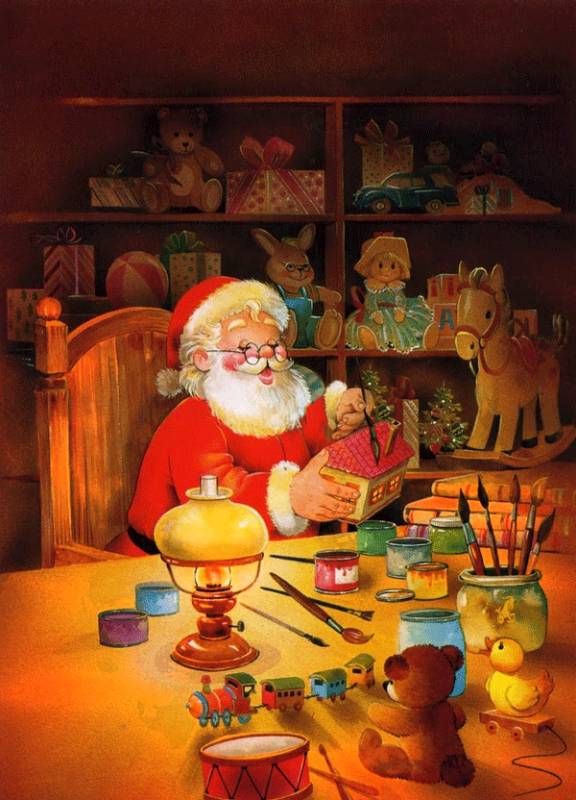 Дедушка Мороз готовит подарки к празднику