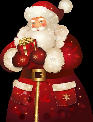 Дед Мороз с подарком. Дед Мороз и Снегурочка картинки
