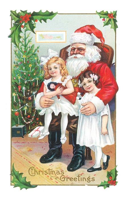 Викторианский Дед Мороз. Дед Мороз и Снегурочка картинки