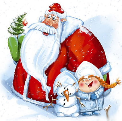 Прикольный рисунок Дед Мороз