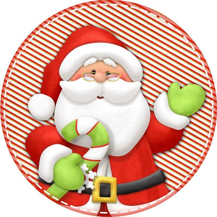 Открытка с Сантой. Дед Мороз и Снегурочка картинки