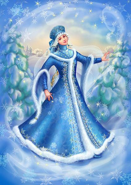Рисунки Снегурочка. Дед Мороз и Снегурочка картинки