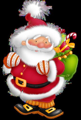 Санта Клаус с подарками. Дед Мороз и Снегурочка картинки