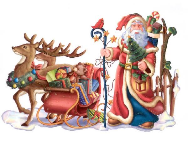 Добрый волшебник приготовился к долгому пути. Дед Мороз и Снегурочка картинки