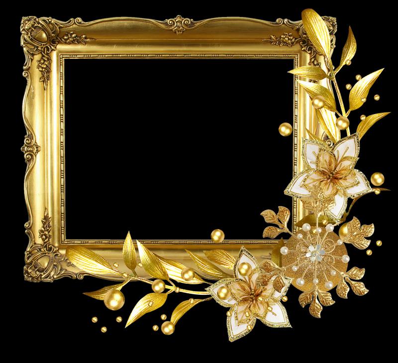 Рамка из золота. Ёлочные игрушки