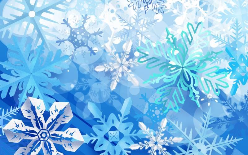 Красивые новогодние снежинки