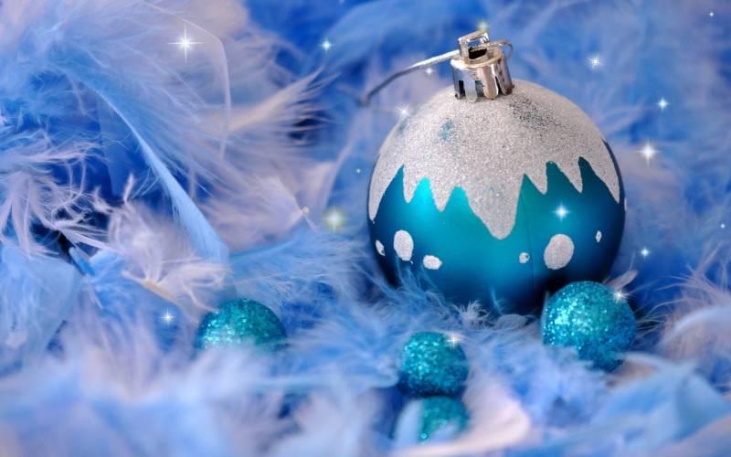 Синий шарик на Новый год. Ёлочные игрушки