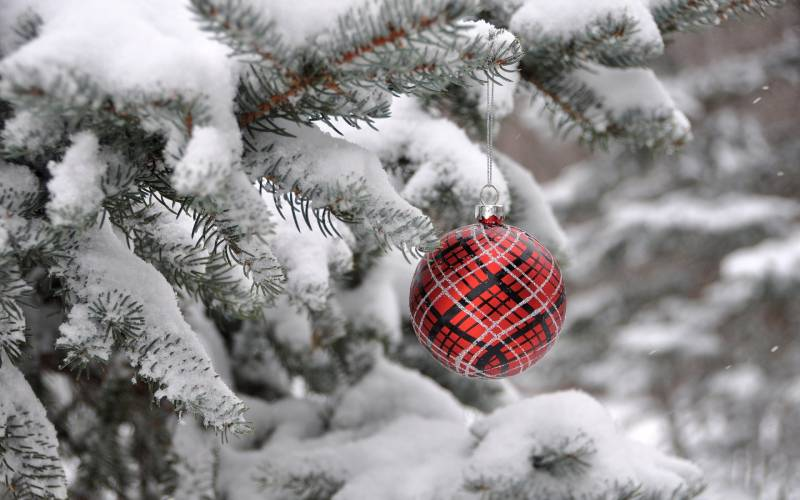 Новогодний узорный шар
