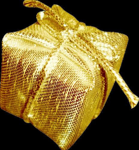 Золотая подарочная упаковка. Ёлочные игрушки